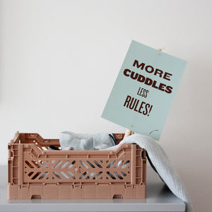 Kids Decor - More Cuddles Less Rules Placard