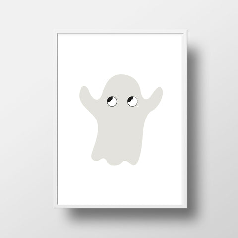 Nursery Art - Good Ghost Print - Small Bob