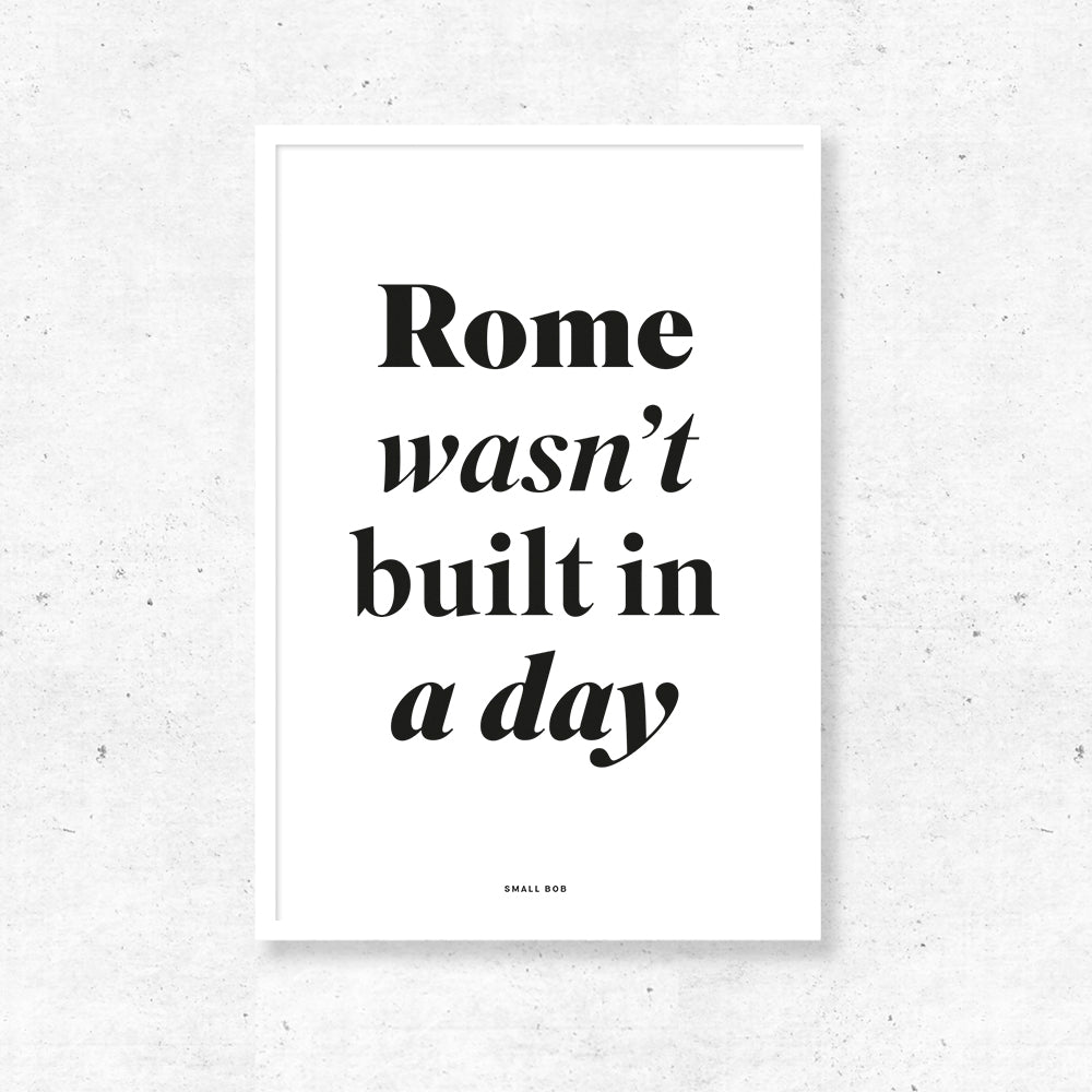 Typography Wall Art - Rome Print