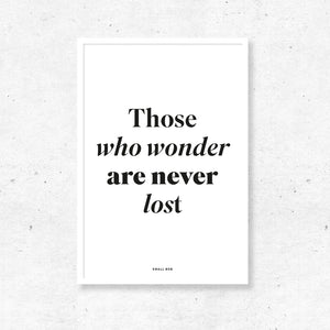 Typography Wall Art - Wonder Print