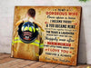 (cv343) Firefighter Poster - To my gorgeous wife