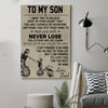 (cv132) biker Poster - to my son