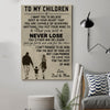 (cv151) family Poster - to my children
