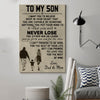 (cv160) family Poster - to my son