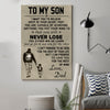 (cv161) family Poster - to my son