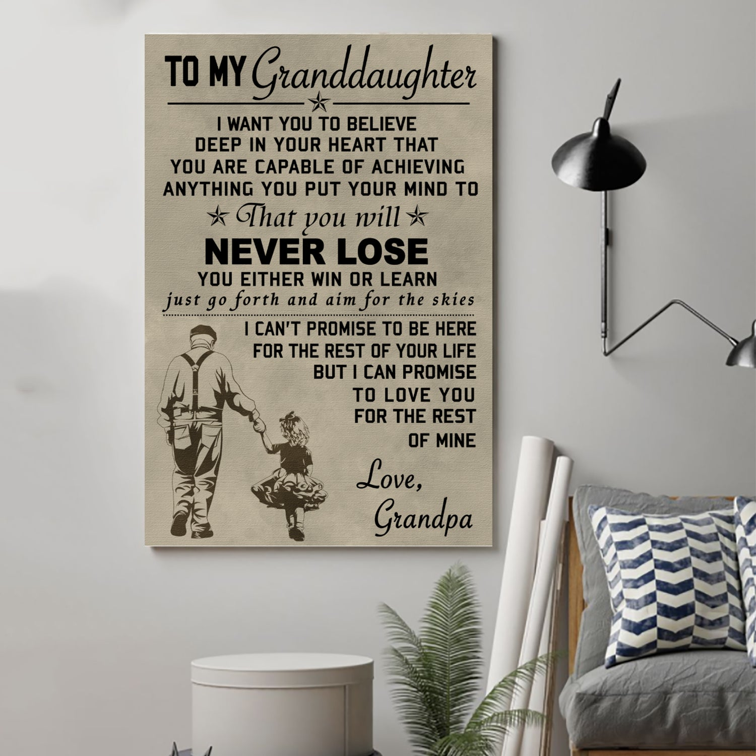 (cv172) family poster - to my granddaughter