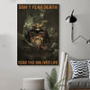 (cv182) Samurai poster - Don't fear death
