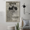 (cv88) biker Poster - 10 reasons to be with a biker