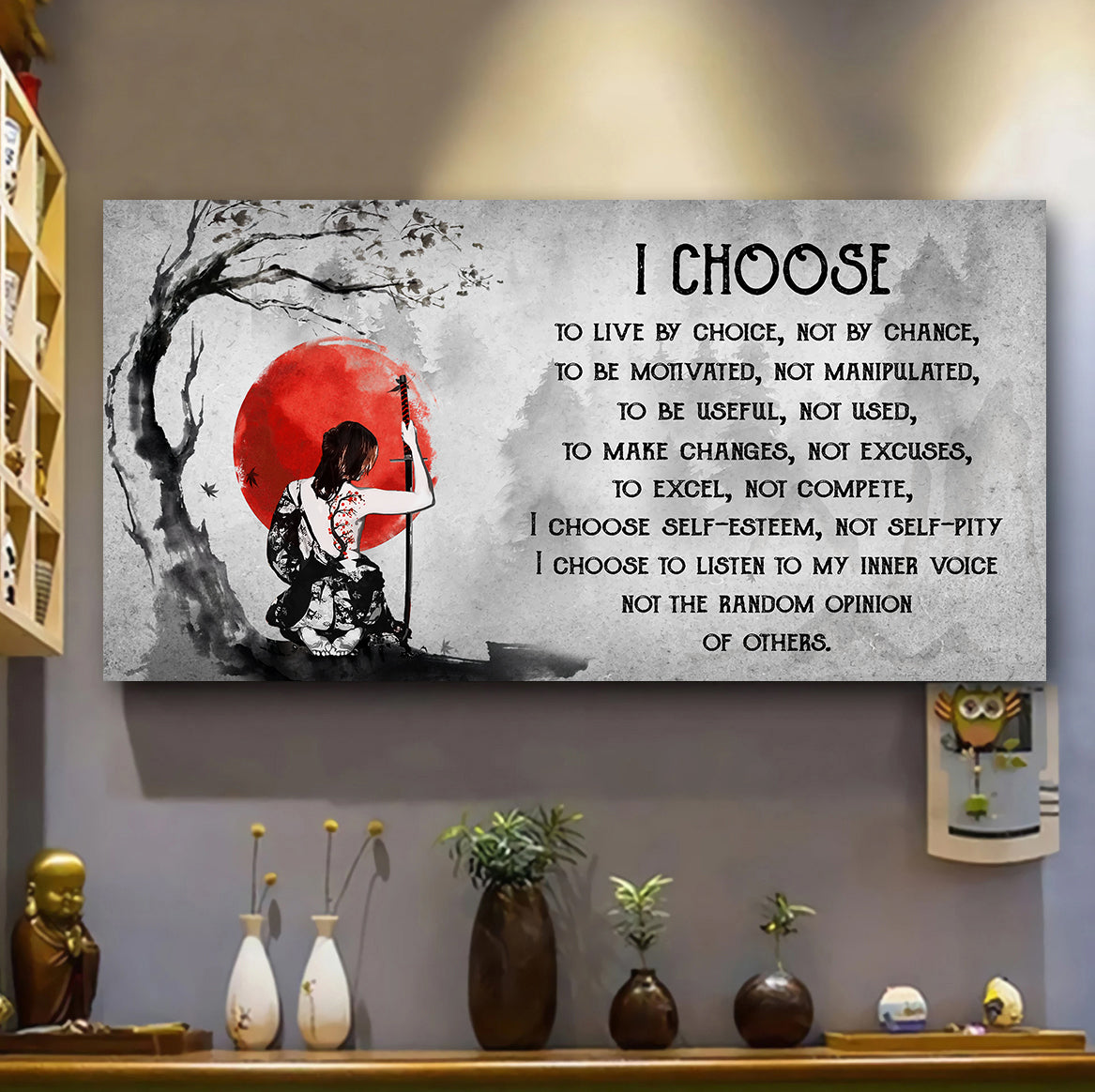(H850) Customizable samurai poster - I choose - FREE SHIPPING ON ORDERS OVER 75$