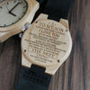ENGRAVED WOODEN WATCH - to my son always remember how much love mum 3