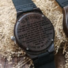ENGRAVED WOODEN WATCH - to my fiance i didn't fall in love with you