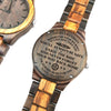 ENGRAVED WOODEN WATCH - to my grandson wherever your journey love grandma 2