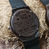 ENGRAVED WOODEN WATCH - to my boyfriend when i tell you