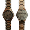 ENGRAVED WOODEN WATCH - to my son never forget that love mom 3