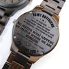 ENGRAVED WOODEN WATCH - to my boyfriend in your eyes 3