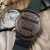 ENGRAVED WOODEN WATCH - to my love the day i met you 3