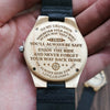 ENGRAVED WOODEN WATCH - to my grandson wherever your journey love grandpa 4