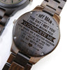 ENGRAVED WOODEN WATCH - to my man the day i met you 5