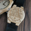 ENGRAVED WOODEN WATCH - to my daughter wherever your journey love dad 2