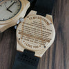 ENGRAVED WOODEN WATCH - to my boyfriend the day i met you 4