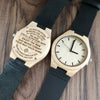 ENGRAVED WOODEN WATCH - to my daughter  wherever your journey love mom and dad 2