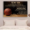 (CV568) Basketball Poster Dad and Mom to Son Never Lose