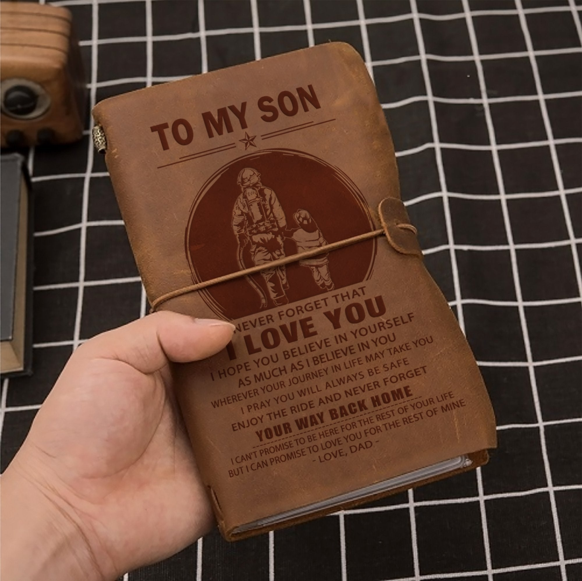 (JT16) FIREFIGHTER VINTAGE JOURNAL - DAD TO SON - YOUR WAY BACK HOME