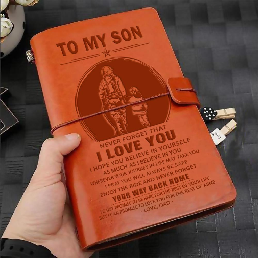 (JD35) FIREFIGHTER VINTAGE JOURNAL - DAD TO SON - YOUR WAY BACK HOME