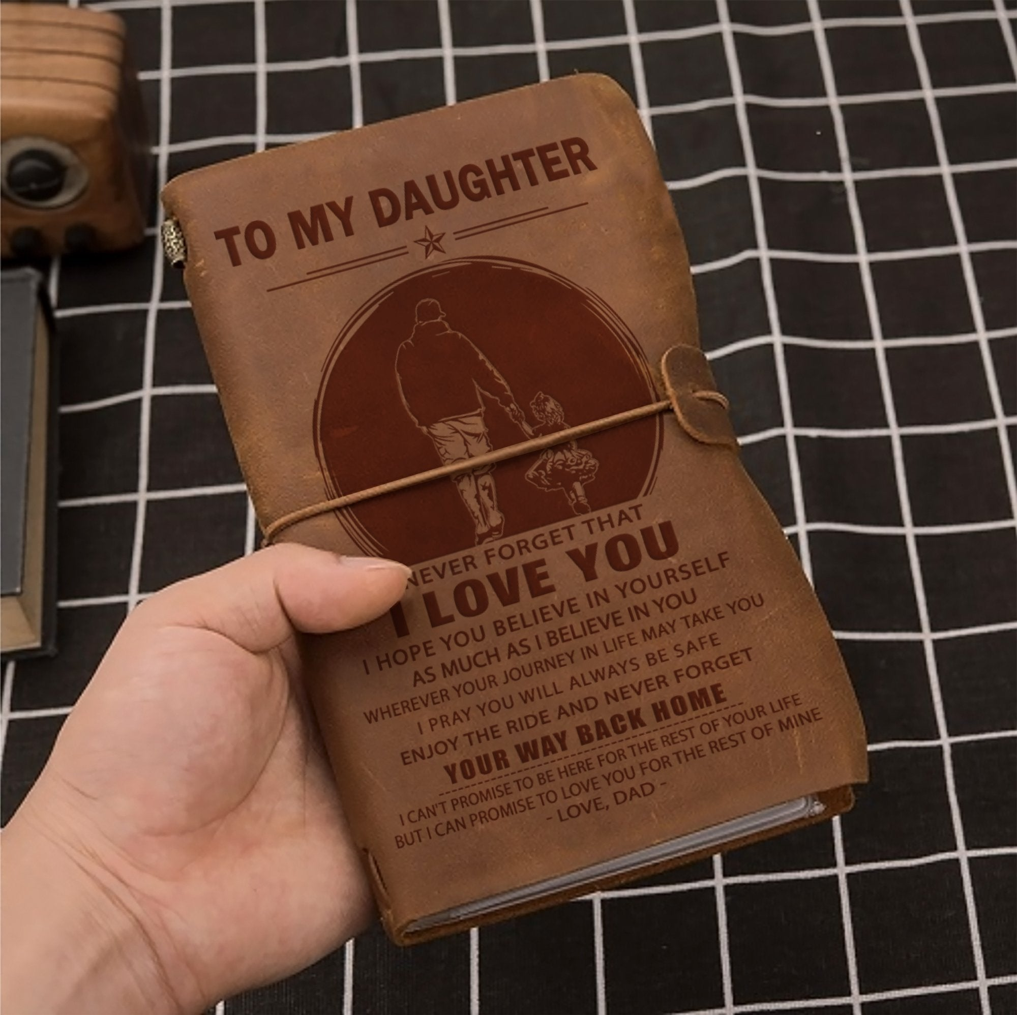 (JT14) FAMILY VINTAGE JOURNAL - DAD TO DAUGHTER - YOUR WAY BACK HOME