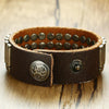 Leather Belt Bracelet Is Filled With Tip Bullets
