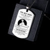 (DTA7) Spartan engraved dog tag - Dad to son - Your way back home