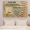 (cv397) Baseball Poster - To my Son Never lose