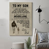 (pt272) family poster - to my son