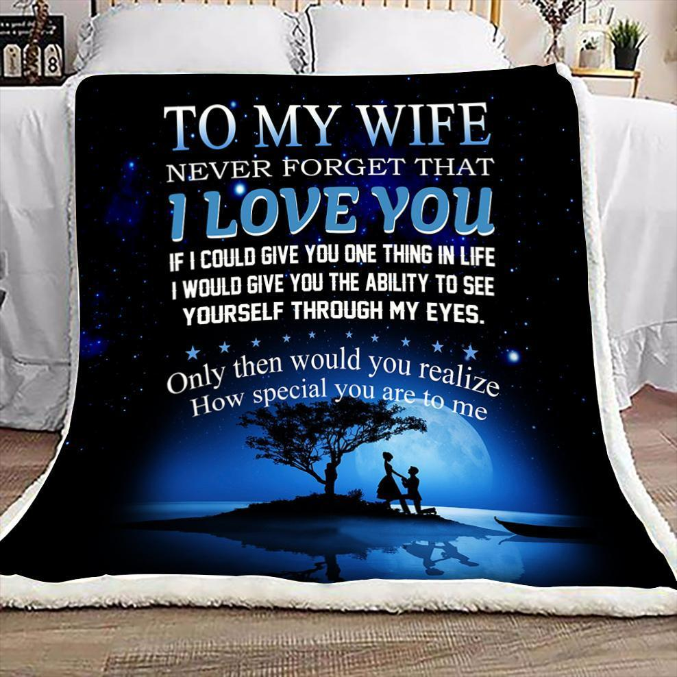 (QL157) LHD Family blanket - to my wife - I love you