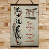 (CV362) SAMURAI CANVAS WITH THE WOOD FRAME - TRUE VICTORY IS VICTORY OVER ONESELF