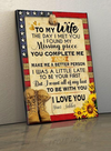 (cv328) Soldier poster - To my wife. Today I met you