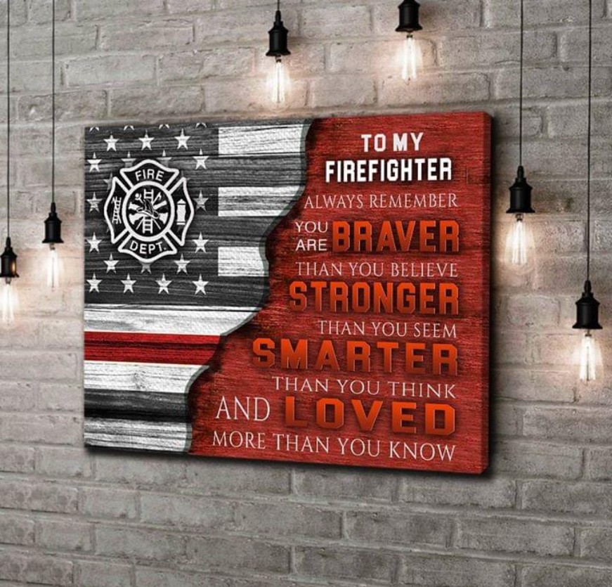 (cv332) Firefighter Poster - To my firefighter