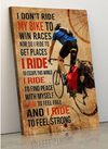(cv325) Biker Poster - I don't ride my bike