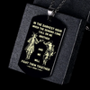 (DT48) SAMURAI BLACK DOG TAG ENGRAVED - CALL ON ME BROTHER