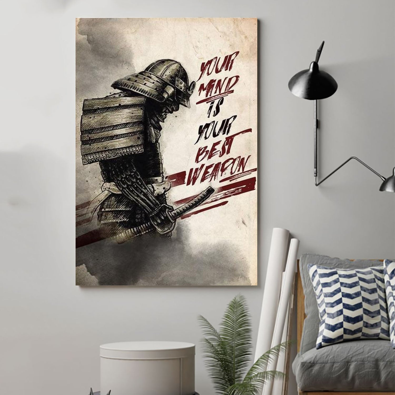 (cv323) Samurai Poster - Your mind is your best weapon