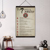 (CV107) samurai canvas with the wood frame - the seven virtues of bushido