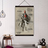 (CV111) knight templar canvas with the wood frame - armor of god