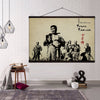 (CV185) samurai canvas with the wood frame - seven samurai