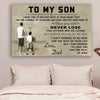 (CV295) Basketball poster - To my son