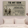 (CV299) American football poster - to my son