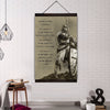 (CV67) knight templar canvas with the wood frame - nobody is born a warrior