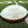 (AF15) AMERICAN FOOTBALL BALL - TO OUR GRANDSON - NEVER LOSE