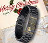(s35) Spatan bracelet black - to my son, love mom