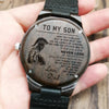 SPARTAN WOODEN WATCH - TO MY SON, LOVE DAD