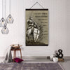 (cv121) Knight templar canvas with the wood frame above - the devil
